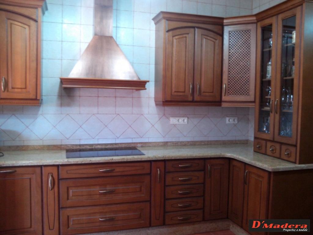 Cocinas rusticas de madera perfect campanas de madera for Muebles de cocinas rusticas
