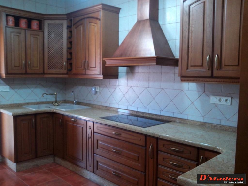 Muebles de cocina color roble oscuro 20170718235303 for Puertas de cocina rusticas