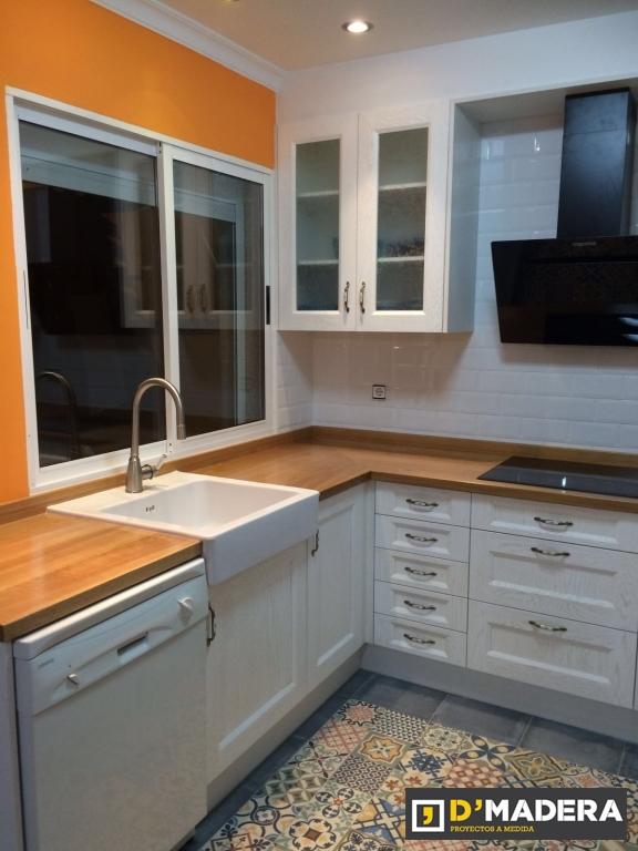 Cocina vintage de madera maciza - Muebles de cocina madera maciza ...