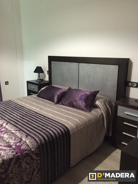 Dormitorio en roble acabado plata vieja y wengue for Dormitorio wengue