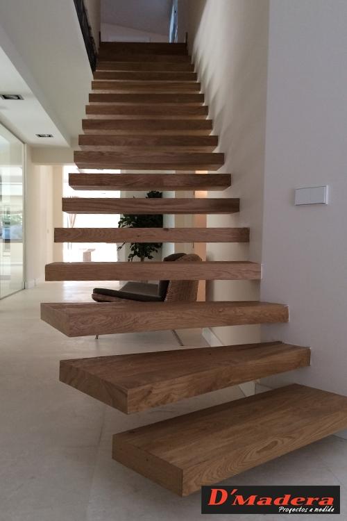 Escalera de dise o de roble macizo modelo aire - Escaleras al aire ...