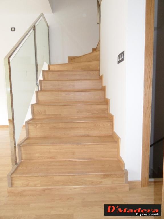 Escalera tarima roble - Tarima madera interior ...