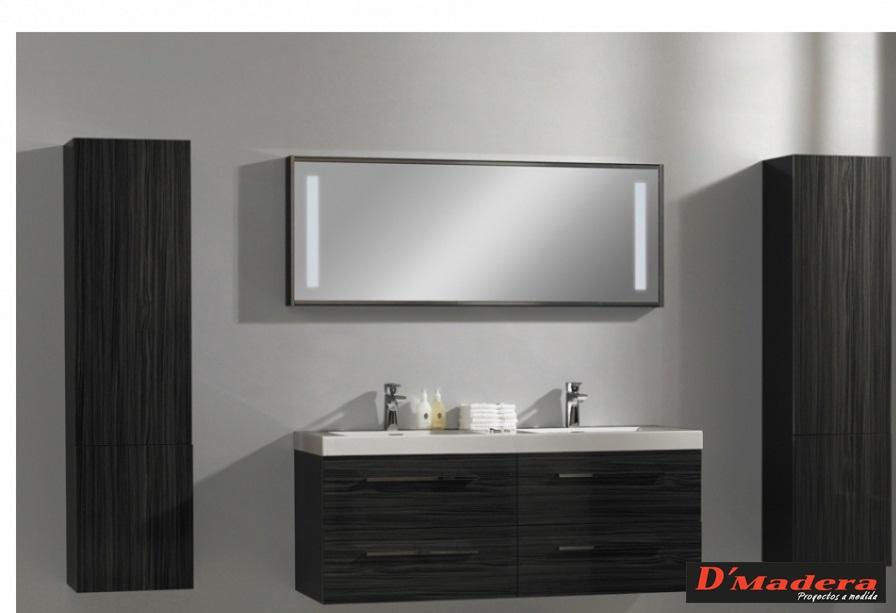 mueble colgante de doble lavabos On mueble de baño colgante