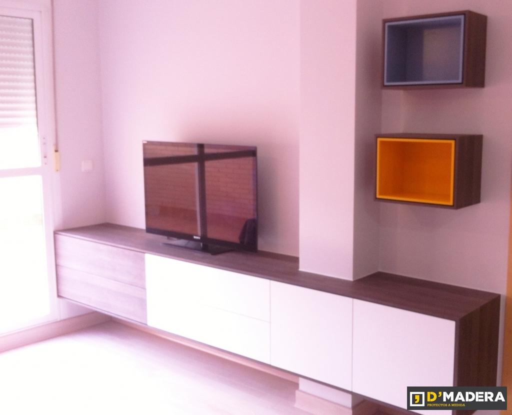 Mueble comedor blanco seda