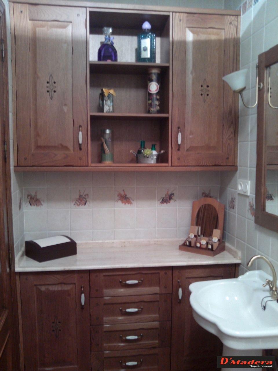 mueble de baño roble tintado