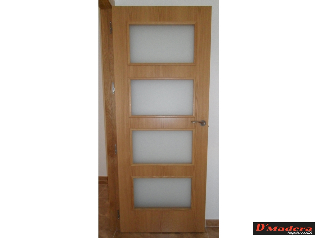 Puerta de interior roble 4v6 for Puertas de roble interior