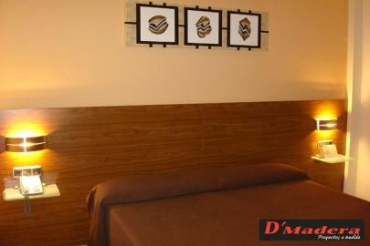 Interiorismo y decoraci n trabajos carpinter a d madera - Cabezales de cama de madera ...