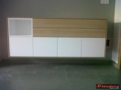 Interiorismo y decoraci n trabajos carpinter a d madera for Muebles salon roble natural
